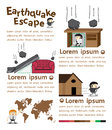 Earthquake escape infographics