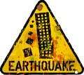 Earthquake warning danger sign sign vector Royalty Free Stock Photography