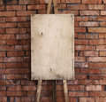Easel art background brick wall Royalty Free Stock Photo