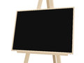 Easel with black board wooden isolated on white background Stock Photography