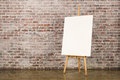 Easel with blank canvas Royalty Free Stock Photo