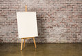 Easel with canvas Royalty Free Stock Photo