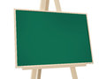 Easel with green board wooden isolated on white background Stock Images
