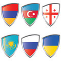 East 1 Europe Shield Flag Royalty Free Stock Photos