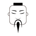 East asian traditional man icon image