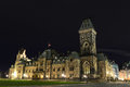 East Block of Parliament Buildings at night Ottawa Royalty Free Stock Photo