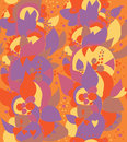 East ethnic seamless floral pattern ornate design Stock Image