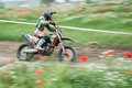 East european supermoto championship from arad romania held on motion blur panning Royalty Free Stock Photos