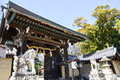 East Gate of Kitano Tenmangu Shrine, Kyoto, Japan Royalty Free Stock Photo