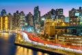 East Harlem neighborhood skyline Royalty Free Stock Photo