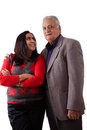 East indian father and daughter isolated portrait of a his Royalty Free Stock Photos
