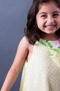 East Indian girl laughing Stock Image