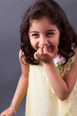 East indian girl laughing portrait of a beautiful uncontrollably Stock Photography
