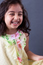 East indian girl laughing portrait of a beautiful uncontrollably Stock Images