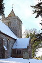 East Langdon Church in winter Royalty Free Stock Image