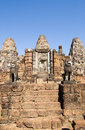 East Mebon temple steps, Angkor, Cambodia Royalty Free Stock Photo