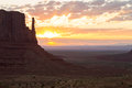 East Mitten Butte at sunrise Royalty Free Stock Photo