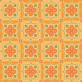 East orange patterns Royalty Free Stock Images