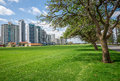 East Perth river view apartment blocks on Terrace Road and Langl Royalty Free Stock Photo