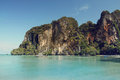 East railay bay in thailand beautiful cliffs of krabi Royalty Free Stock Photo