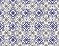 East retro blue seamless flower pattern Royalty Free Stock Images