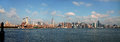 East River View of Manhattan NYC Stock Photo