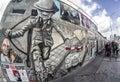 East side gallery. Berlin wall., Germany Royalty Free Stock Photo