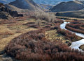 East Walker River in Western Nevada Royalty Free Stock Photos