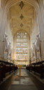 East window bath abbey viewed choir bath somerset uk Stock Photography