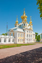 East wing of grand palace in peterhof, russia Royalty Free Stock Images