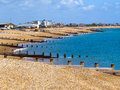 Eastbourne beach at english chanel united kingdom Royalty Free Stock Photos