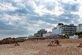 Eastbourne beach uk during summer Royalty Free Stock Photo