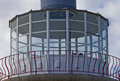Eastbourne belle tout lighthouse a close up view of observatory position in beach head england Stock Photos