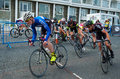 Eastbourne cycling festival cyclists at the east sussex uk Royalty Free Stock Images