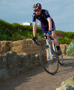 Eastbourne cycling festival cyclists at the east sussex uk june Stock Photography