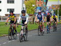 Eastbourne cycling festival th category road race uk june competitors racing in the Royalty Free Stock Photo