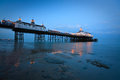 Eastbourne pier at dusk united kingdom Stock Photos