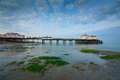 Eastbourne pier at dusk united kingdom Royalty Free Stock Photos