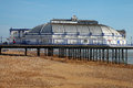 Eastbourne pier england at low tide united kingdom Stock Photography