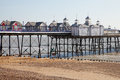 Eastbourne pier england at low tide united kingdom Stock Photos