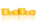 Easter in 3d cubes Royalty Free Stock Photography