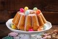 Easter Almond Ring Cake On Woo...