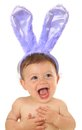 Easter baby adorable ten month old bunny Royalty Free Stock Images