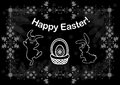 Easter background with bunnies illustration of and egg in basket Stock Photos
