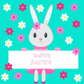 Easter background with bunny Royalty Free Stock Image