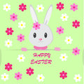 Easter background with bunny Stock Photo