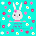 Easter background with bunny Stock Image