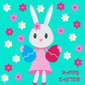 Easter background with bunny Royalty Free Stock Photography