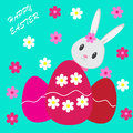 Easter background with bunny Stock Photography