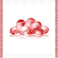 Easter background egg ukrainian folk tradition there is with eggs pattern Royalty Free Stock Photos